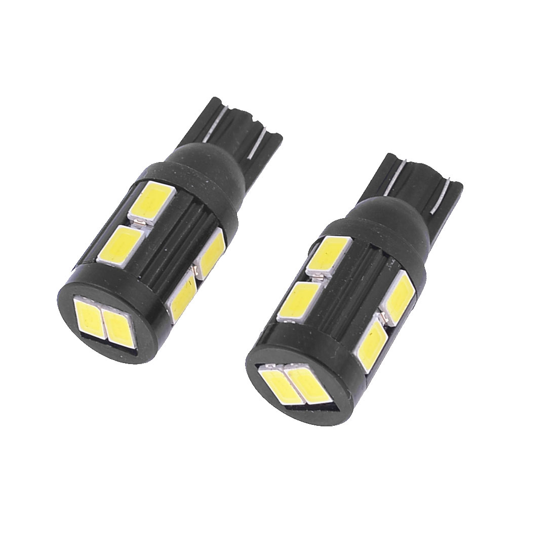 2PCS T10 1250 1252 W5W White 5630 SMD 10-LED Dashboard Light Lamp for Car