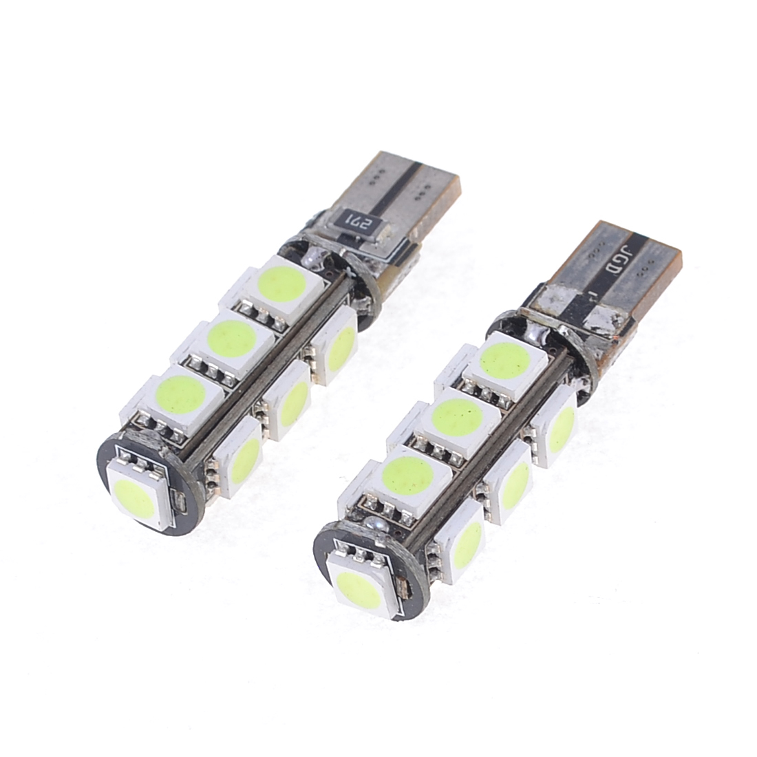 2 Pcs No Error Canbus W5W T10 5050 13-SMD LED Ice Blue Car Light Lamp DC 12V