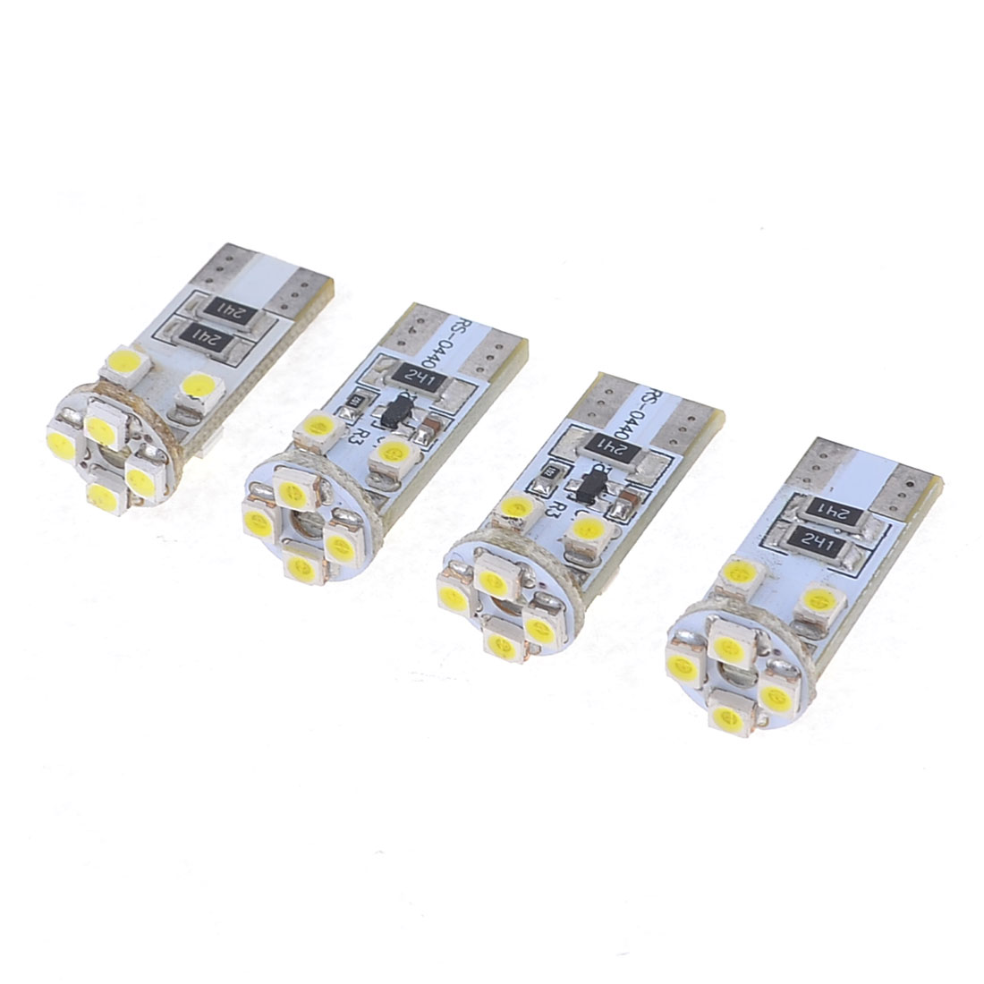 4 x T10 194 152 Wedge Canbus Error Free White 3528 1210 SMD 8-LED Car Light Lamp