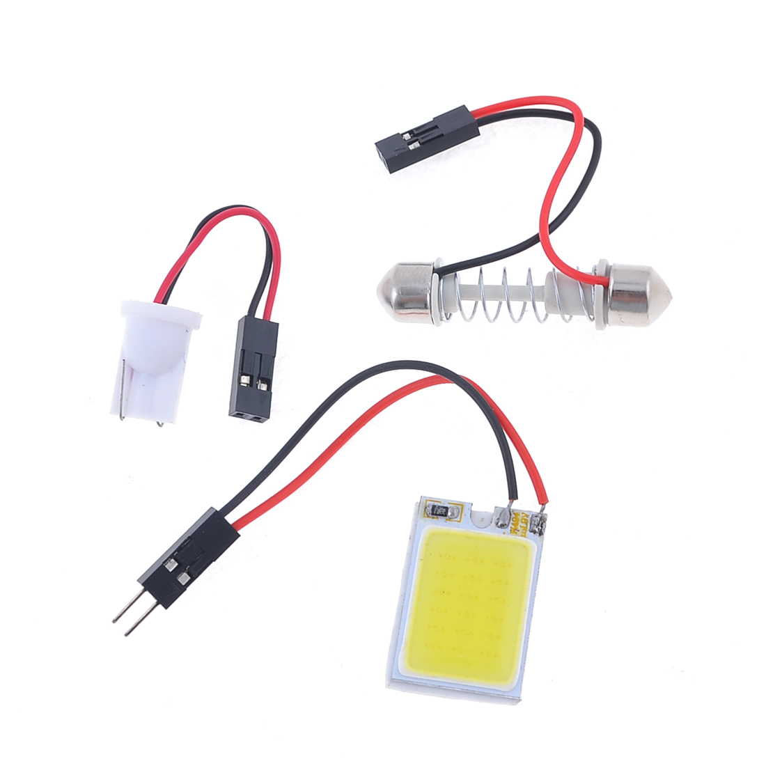 Car Vehicle Interior White 18 COB LED Dome Lamp Bulb w T10 Festoon Adapter