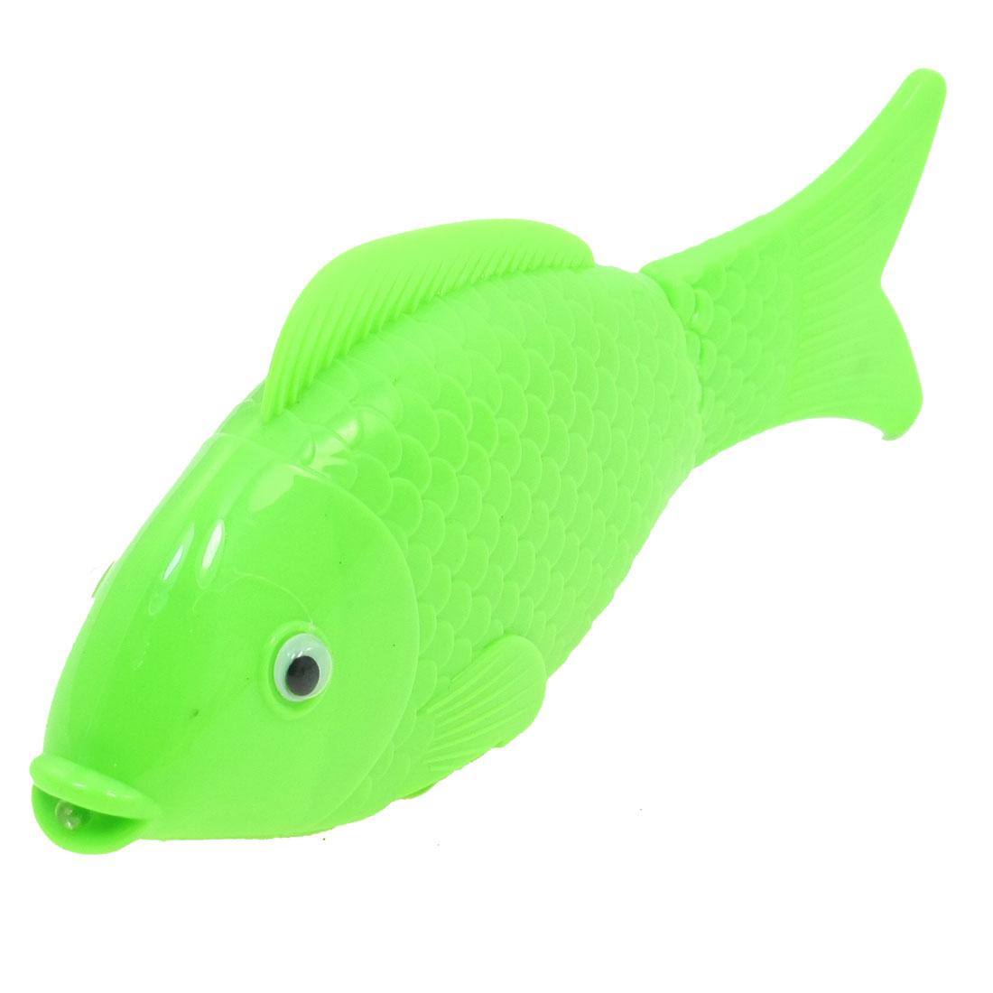 Children Green Body Red Light Swaying Fishtail Music Fish Toy