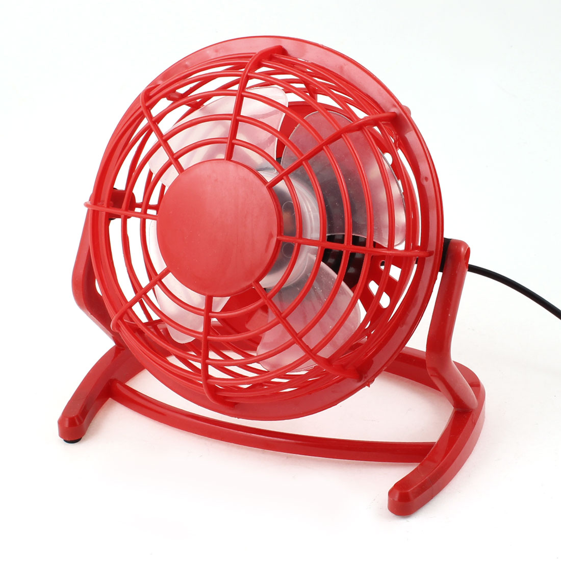 Red Plastic Round Adjusatble PC Computer USB Connector Cooling Cooler Mini Fan