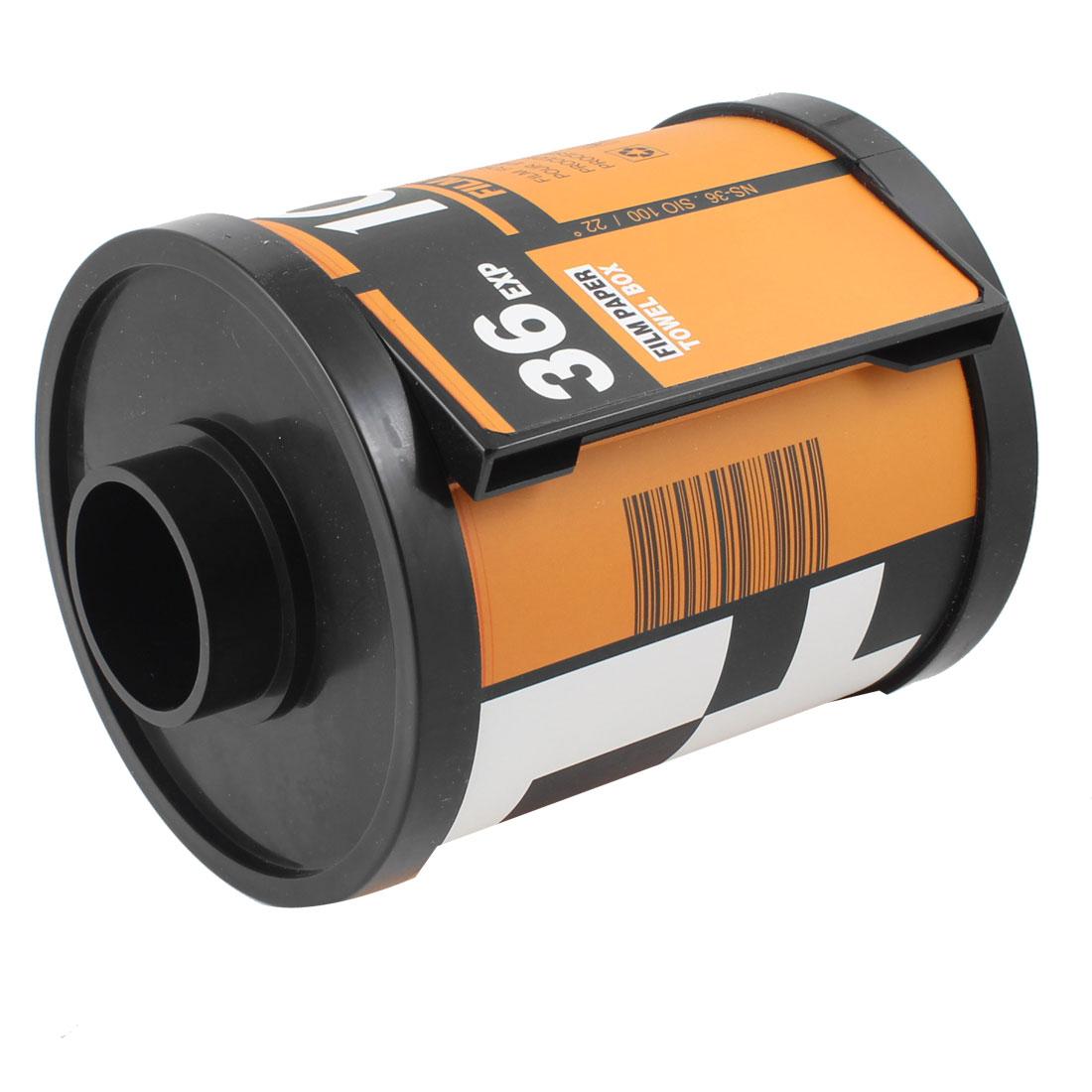 Film Canister Paper Towel Tissue Toilet Roll Holder Dispenser Storage Box Orange
