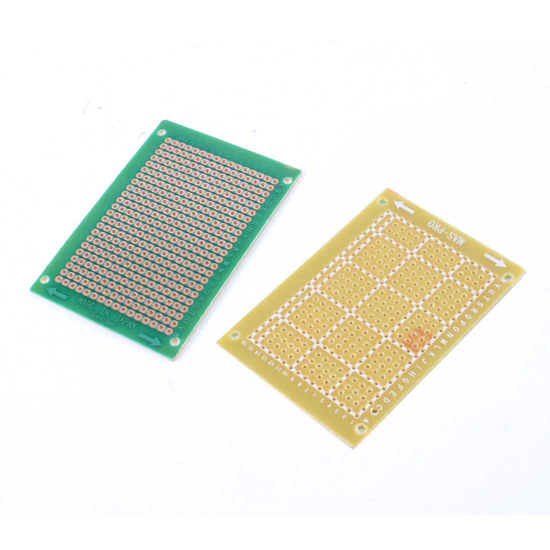2 Pcs Prototype PCB Circuit Board Universal Stripboard Veroboard 70x50mm