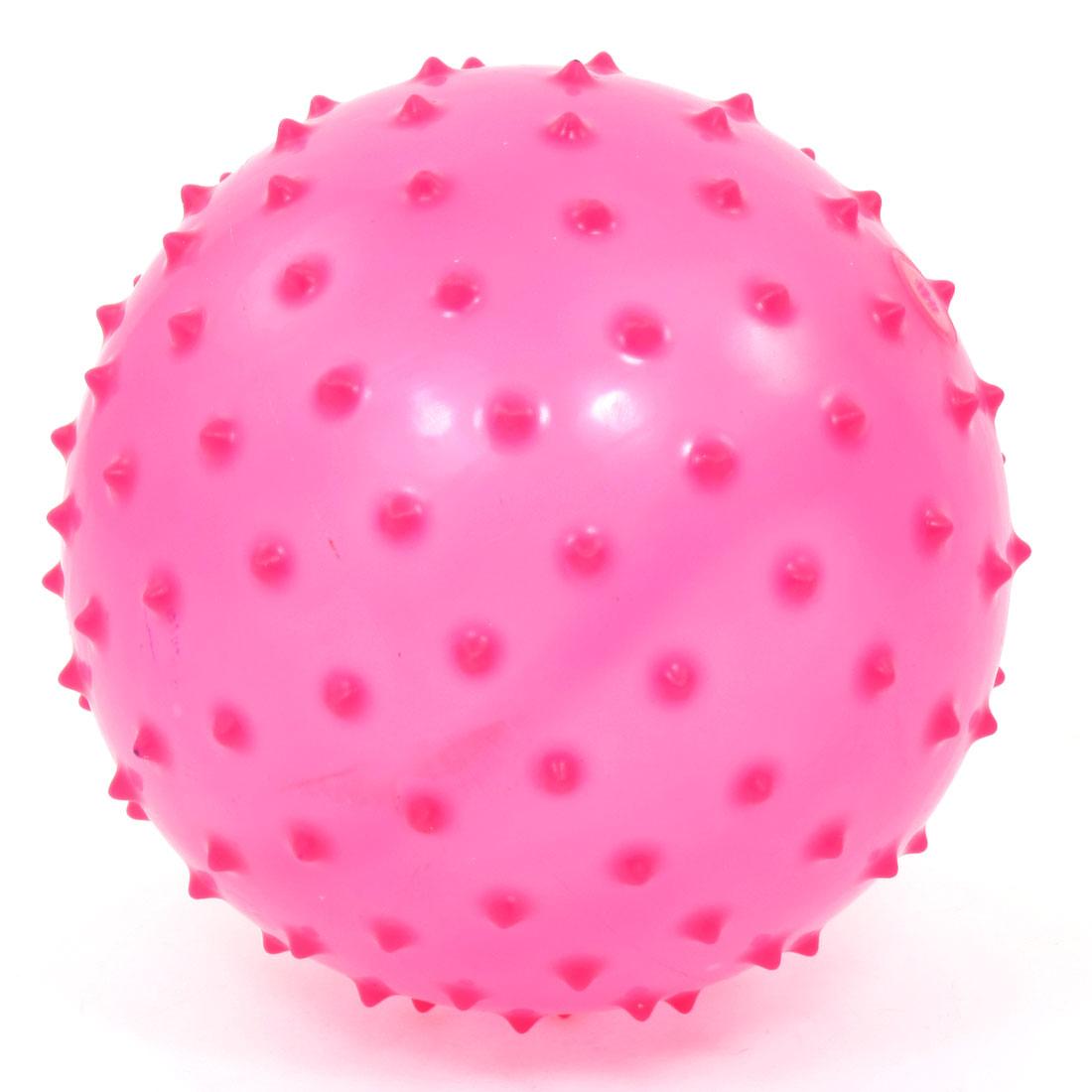 Magenta Inflatable Spiky Sensory Massage Ball Body Massager 14cm Dia