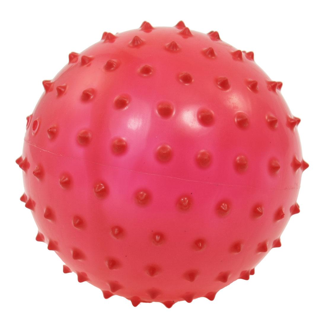 "5.5"" Diameter Body Fitness Stress Relief Spiky Massage Ball Dark Red"