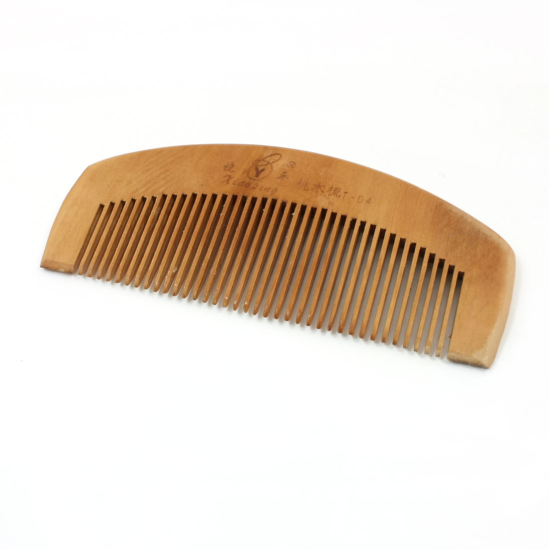 6.2cm Width Brown 36 Teeth Healthy Hairs Care Peach Wooden Hair Comb