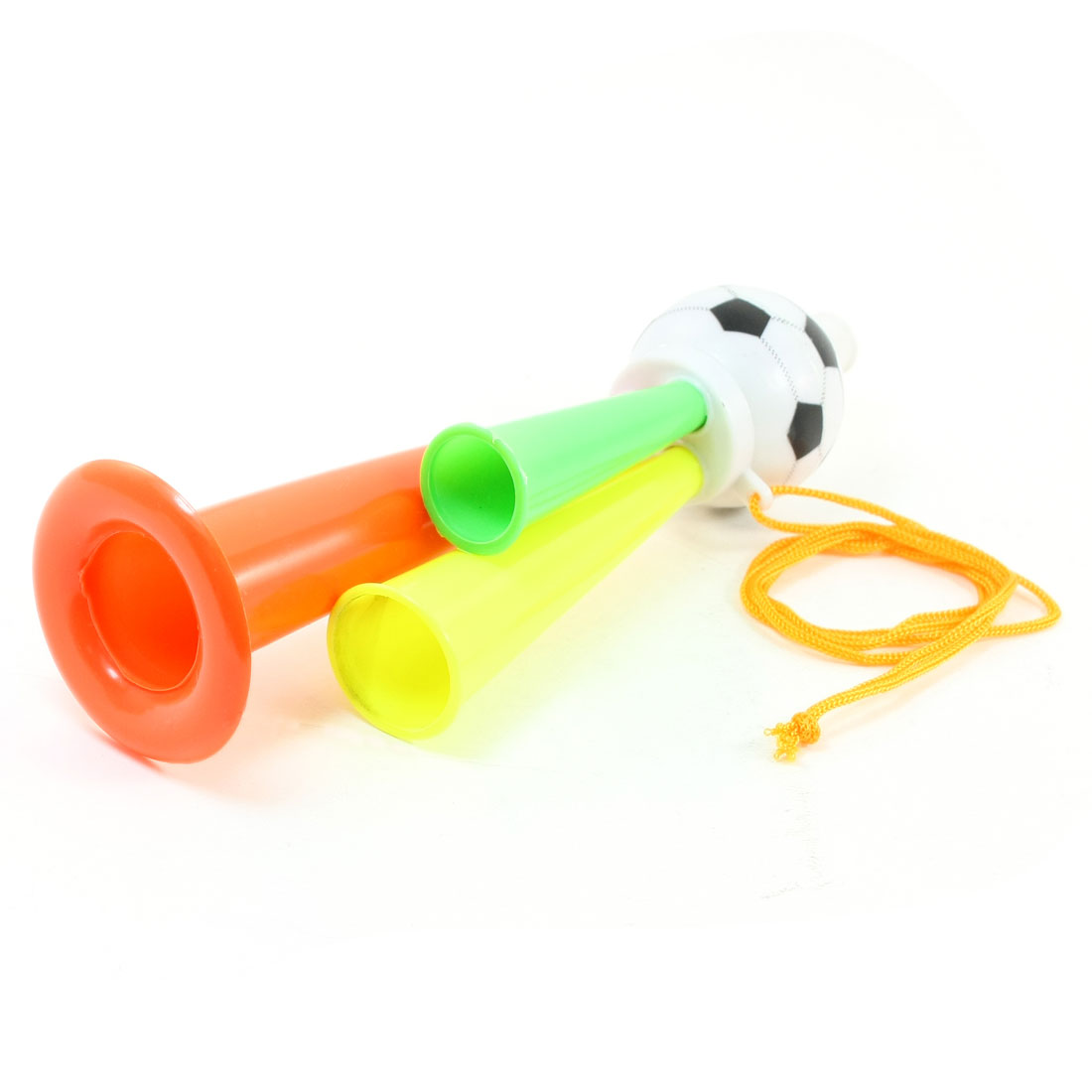 Football Shape Orange Yellow Green Plastic Music Sound Toy for Kids