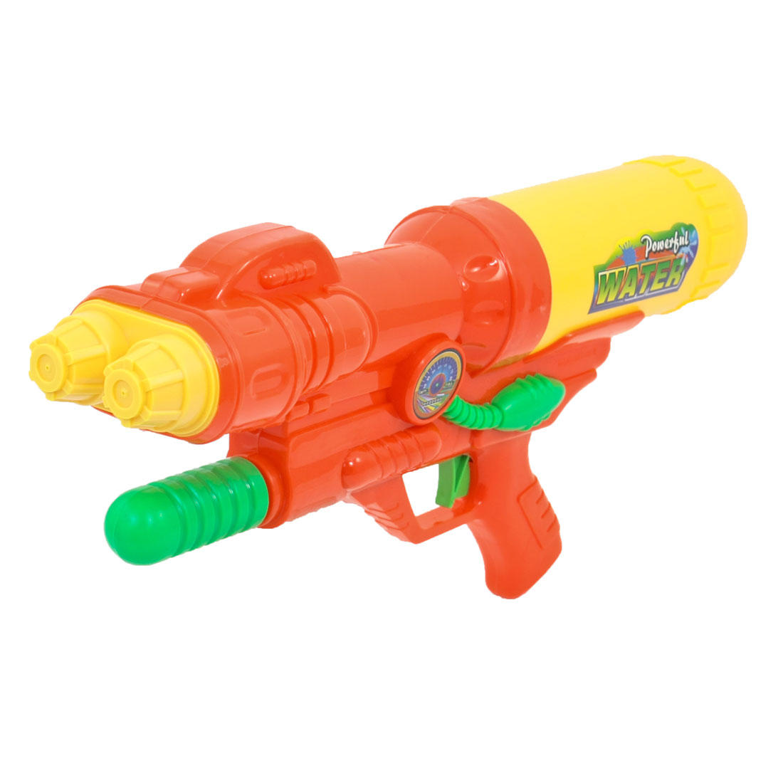 Child Orange Red Yellow Plastic Water Squirt Gun Fight Toy 40cm Long