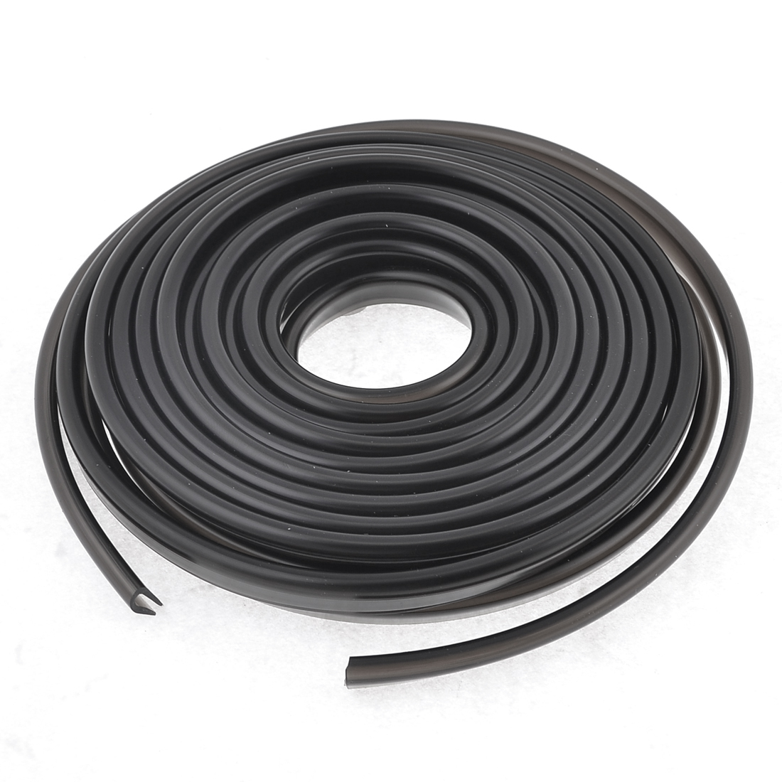 6M x 6mm x 10mm Dark Gray Car Soft Plastic Door Bumper Moulding Trim Strip