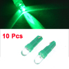 10pcs Car Vehicle T5 286 Dashboard License Plate Light Green 1-LED Bulbs DC 12V