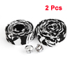 2 Pcs Black White Handlebar Tape Wrap w Bar Connector for Bike Bicycle