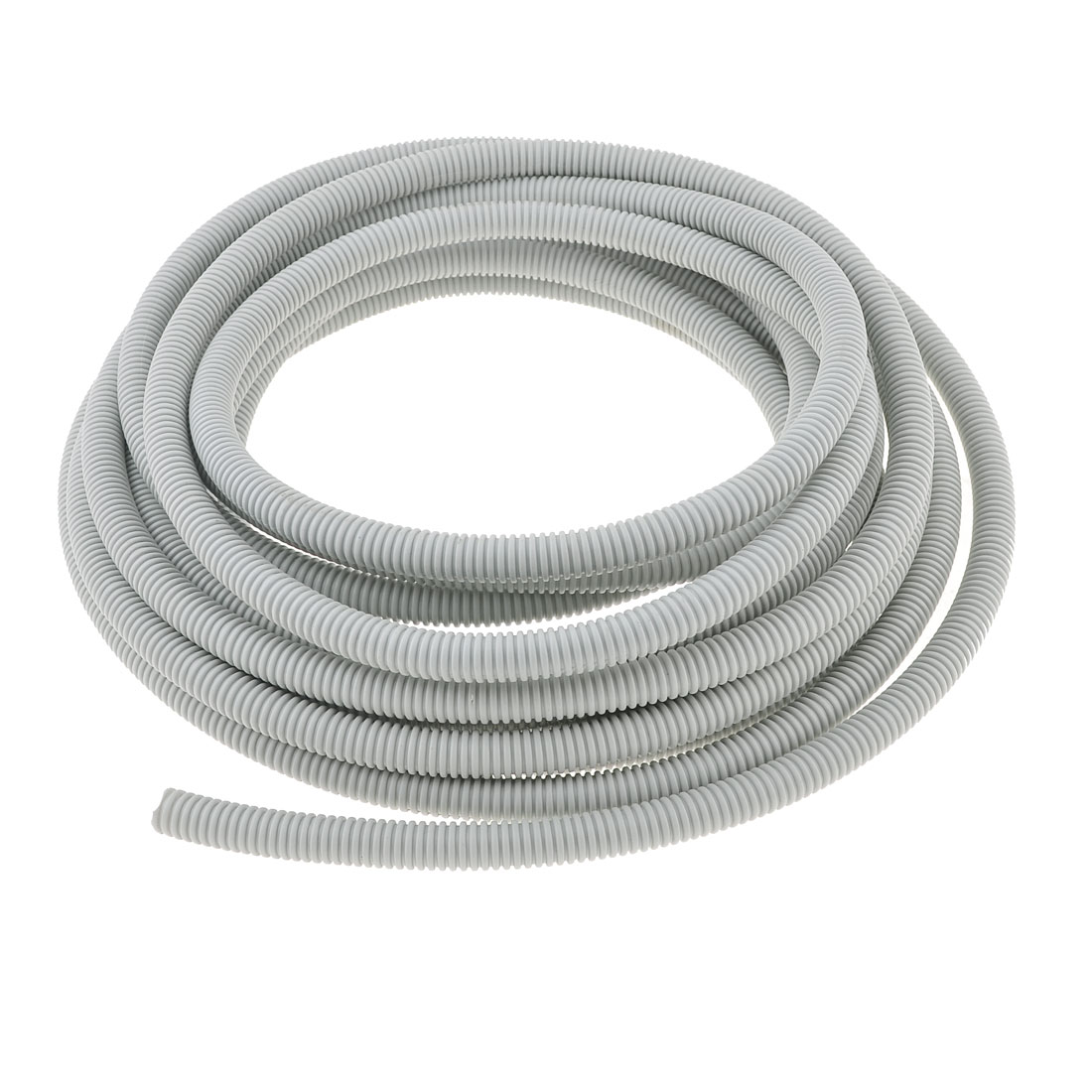 Gray Plastic Electric Insulation 13mm Inner Dia Wire Tubing Tube 10M