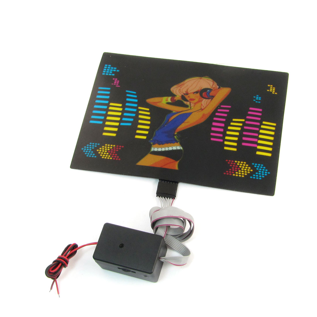 Car Auto Truck Sound Music 4-Color Flash Light Sticker Decor