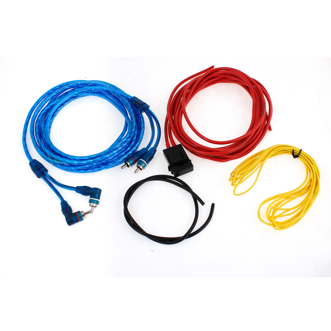 4 in 1 Plastic Inline Fuse RCA Audio Amplifier Wiring Kit for Car
