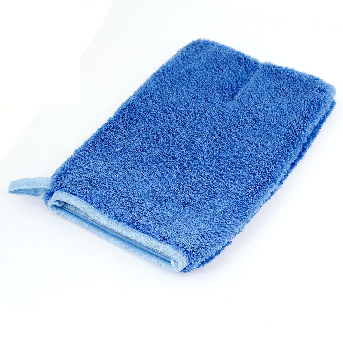 Vehicle Car Washing Cleaning Glove Blue Soft Plush Auto Wash Mitt