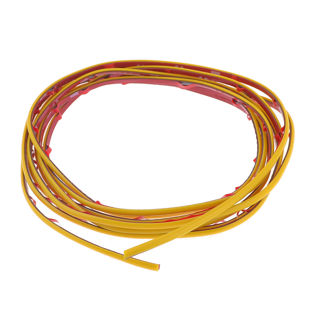 Yellow 3 Meter Long 4mm Width Moulding Trim Strip for Car