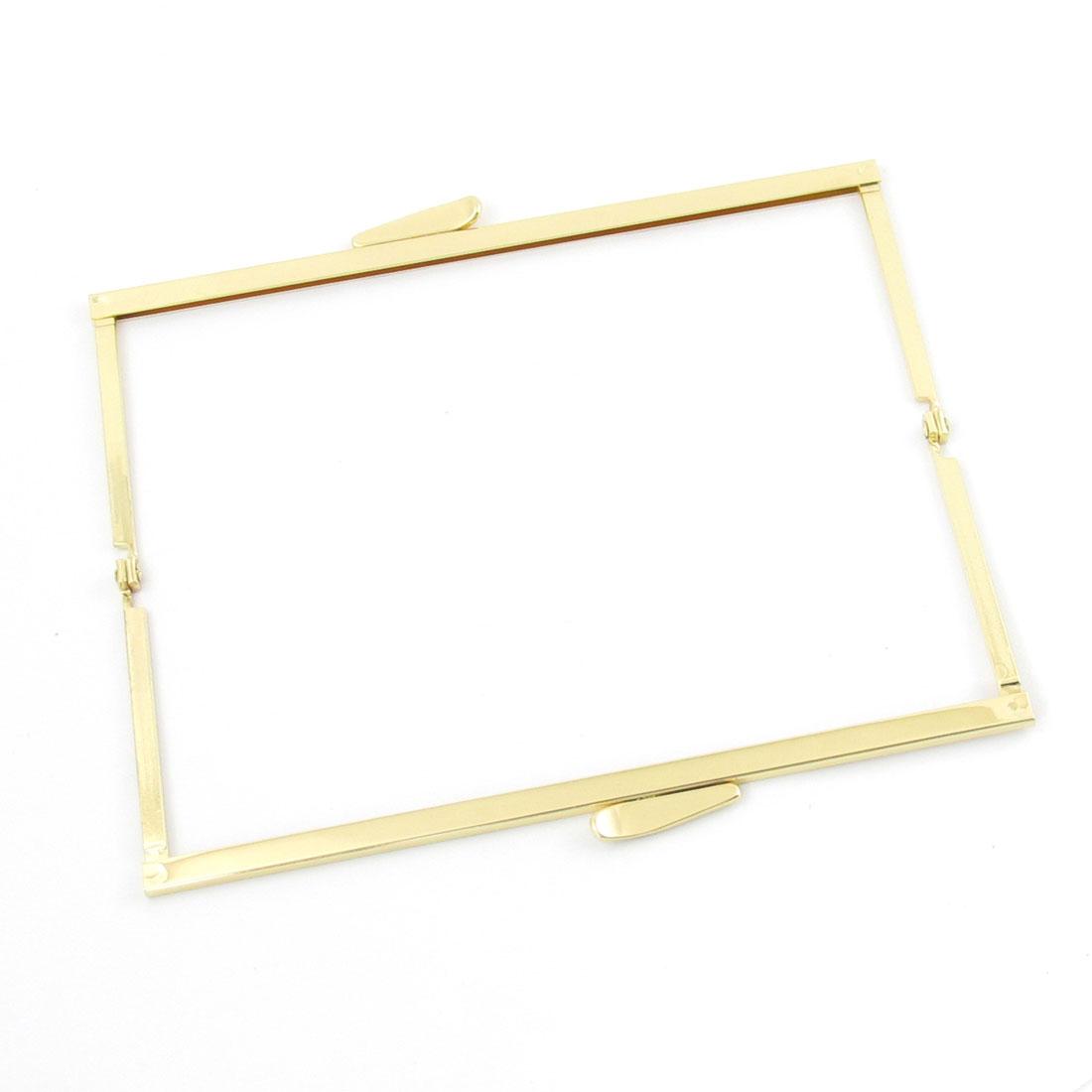 "Gold Tone Metallic Kiss Lock Clasp Closure Purse Frame 7"" Long"