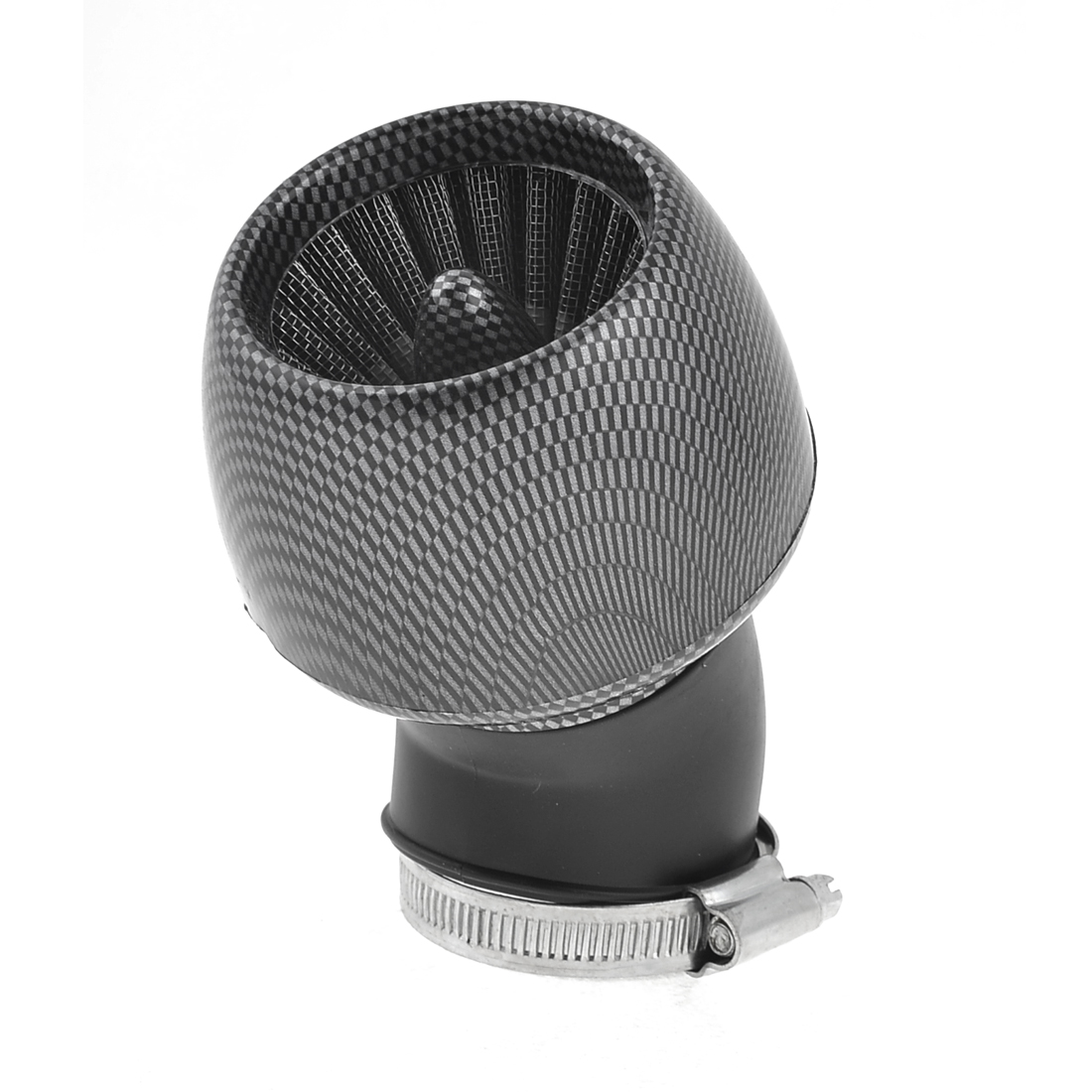 General Thread Dia 4.8cm Carbon Fiber Color Apple Shape Motorcycle Air Filter