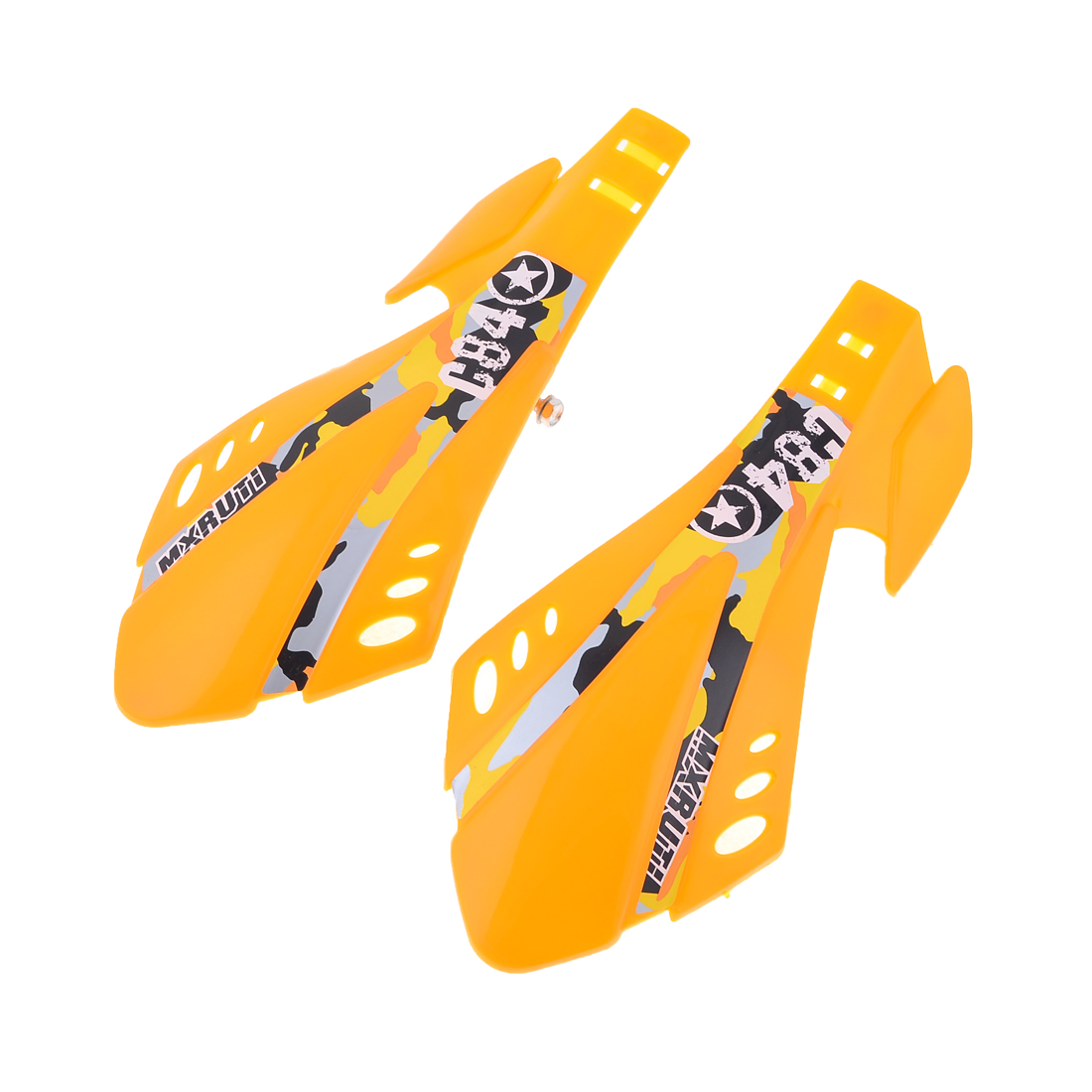 2 Pcs Common Scooter Parts Plastic Handlebar Hand Guards Guardian Yellow