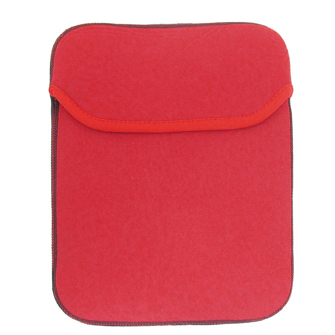 """Red 10.2"""" Widescreen Leptop Bag Vertical Neoprene Notebook Case"""
