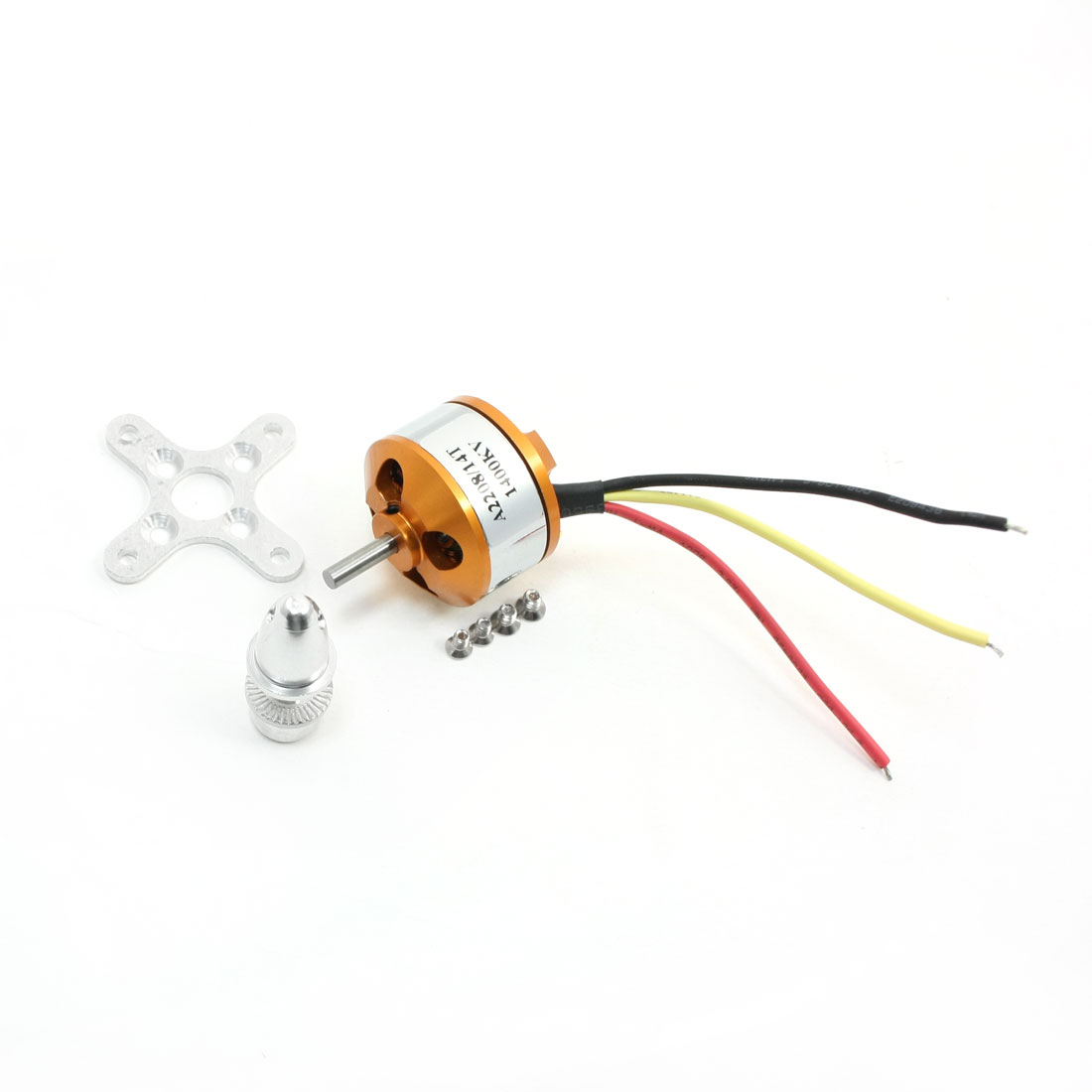 3mm Dia Drive Shaft A2208/14T 1400RPM/V Brushless Motor for RC Helicopter