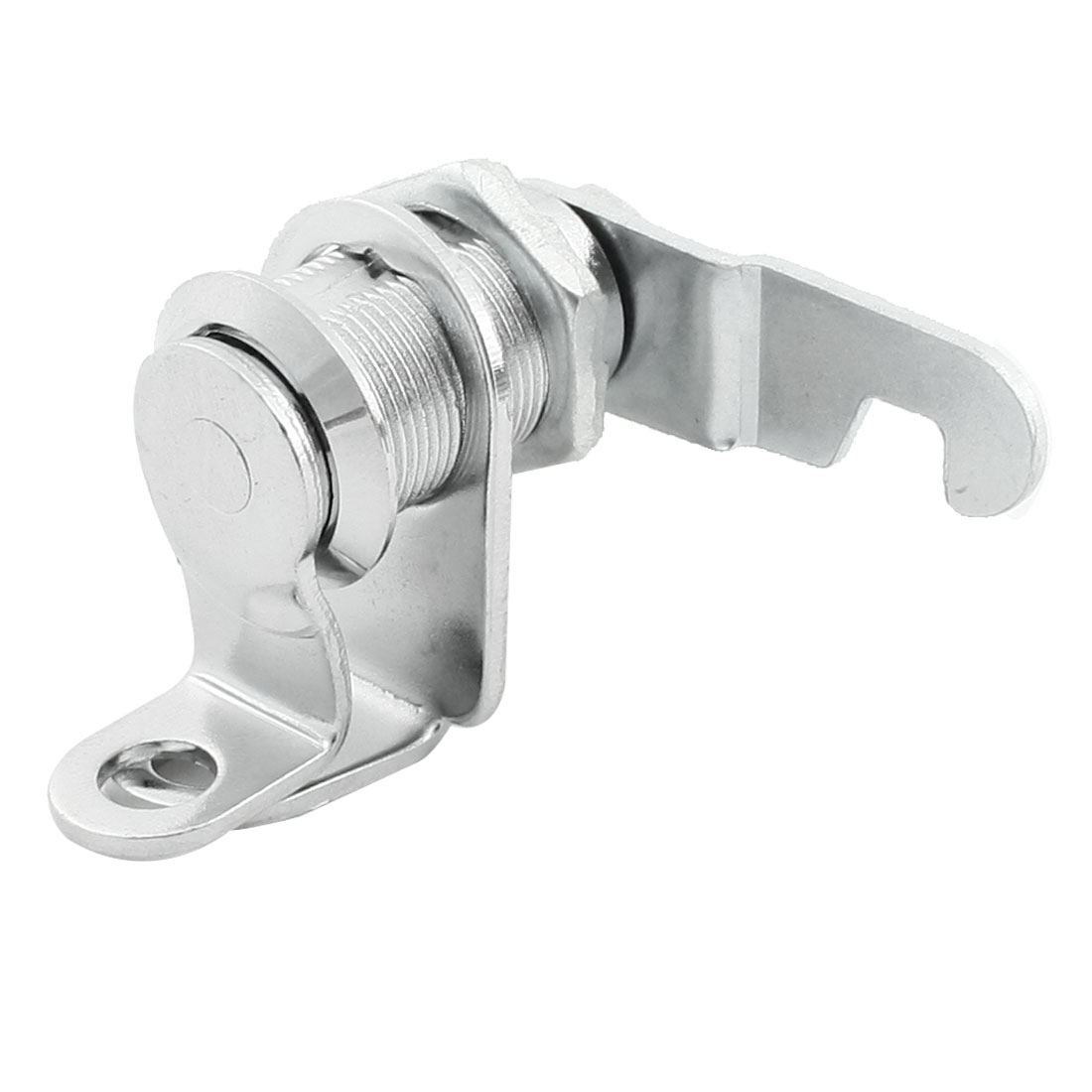 Silver Tone 17.4mm Dia Cylinder Straight Flat Closet Door Cam Lock