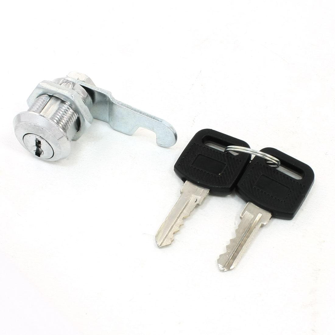 Office Cabinet Drawer 17.4mm Cylinder Quarter Turn Cam Lock w Keys