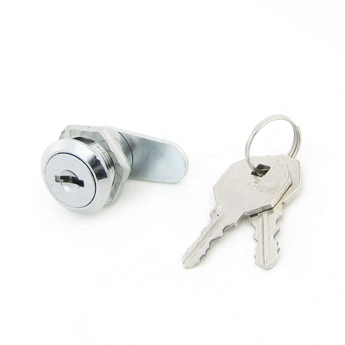 House Office 17.4mm Dia Straight Flat Cam Quarter Turn Lock w Keys