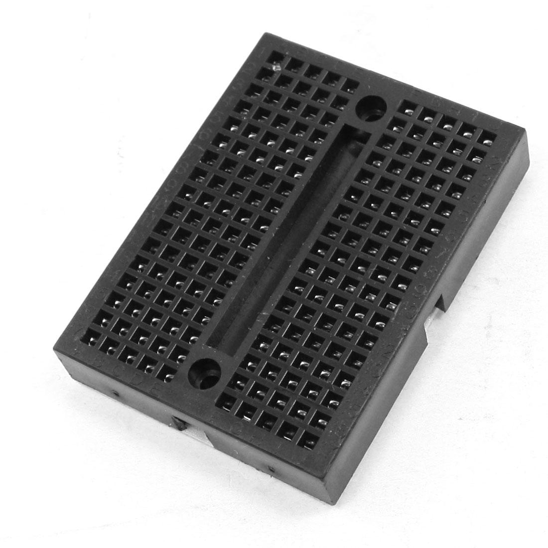 Circuit Test Board Breadboard 170Pcs Tiepoint 47mmx35mmx9mm Black