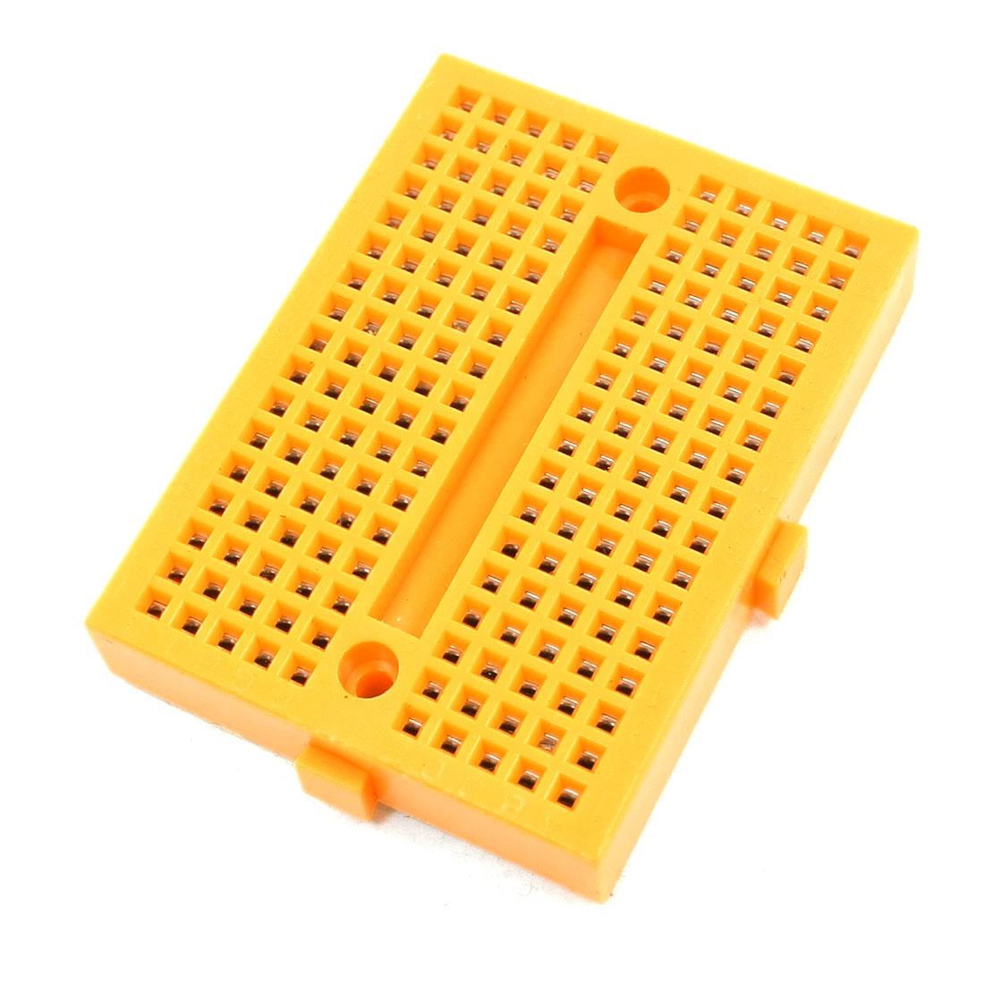 DIY Solderless Breadboard 170 Tie Point PCB Panel 47x35x9mm Yellow