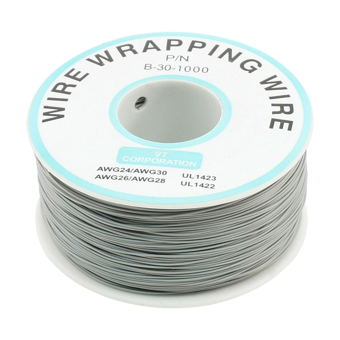 PCB Solder Flexible P/N B-30-1000 30AWG Wire Cable Wrapping Wrap 200M Gray