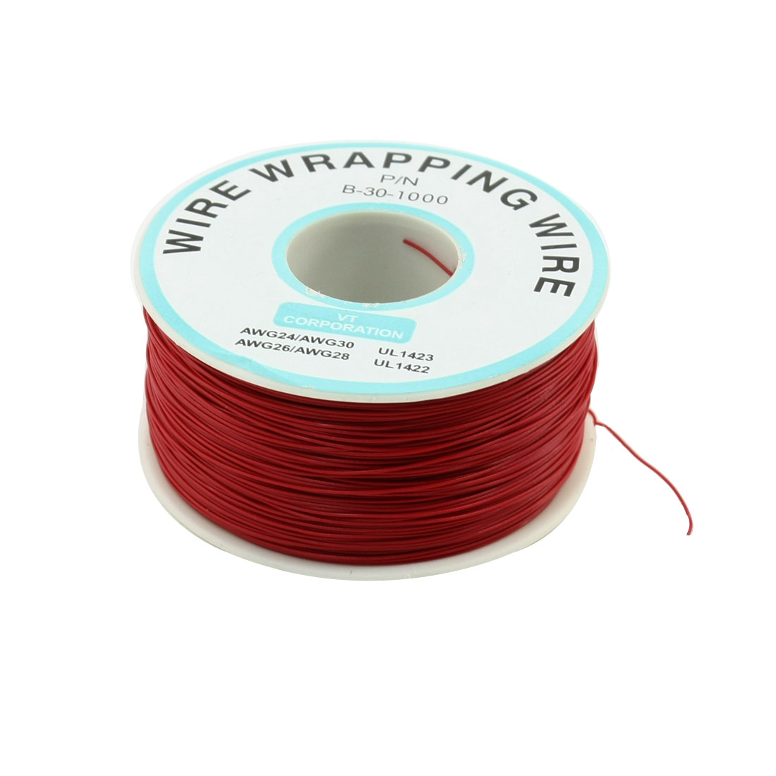 200M 30AWG Tin Plated Copper Wire Insulation Test Wrapping Cable Roll Red
