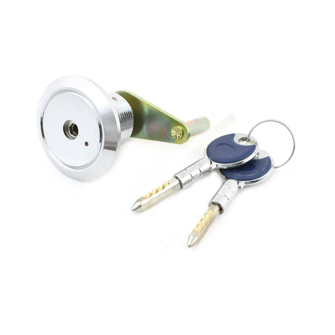Office Cabinet Drawer Safe Box Deadbolt Cylinder Lock w 2 Keys