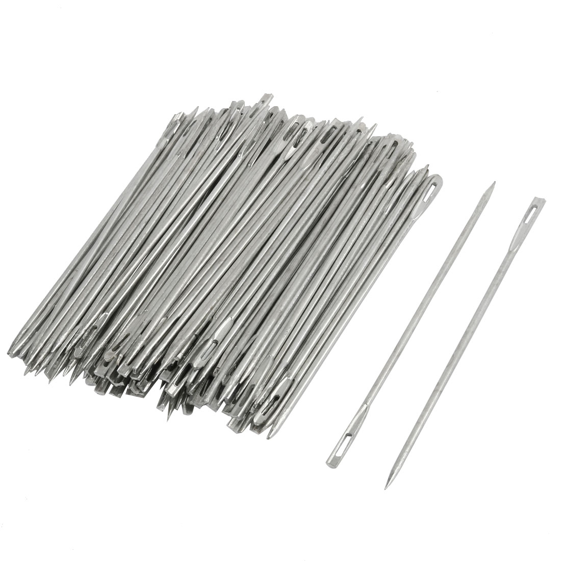 100 Pcs Sharp Tip Package Quilting Tailor Sewing Needles 10cm Long