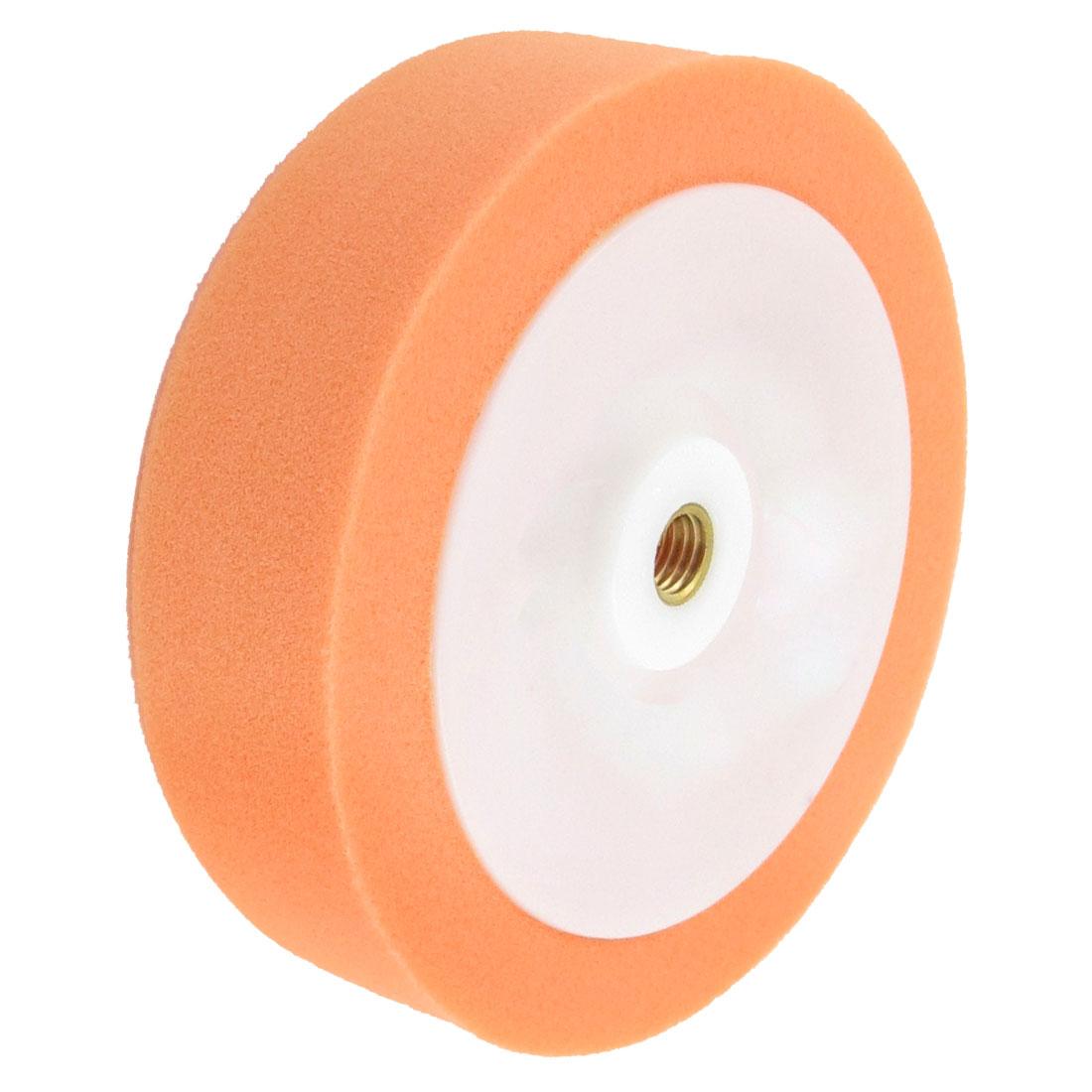 """Orange White 0.47"""" Female Thread Sponge Polishing Ball for Car"""