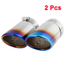 2 Pcs Enamel Blue Adjustable Car Exhaust Muffler Burnt Tip for Audi