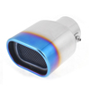 Car Vehicle Universal Exhaust Rear Pipe Rectangle Outlet Muffler Tip