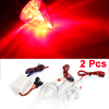 Enduring DC 12V Red Light 3 LED Motorcycle Turn Brake Indicator Lamp 2 Pcs