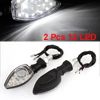 2 Pcs White 12 LED Indicator Turn Light Steering Lamps DC 12V for Motorbike
