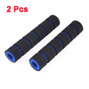 2 Pcs Blue Black Foam Anti-Slip Brake Handlebar Hand Grip Cover for Motorcycle