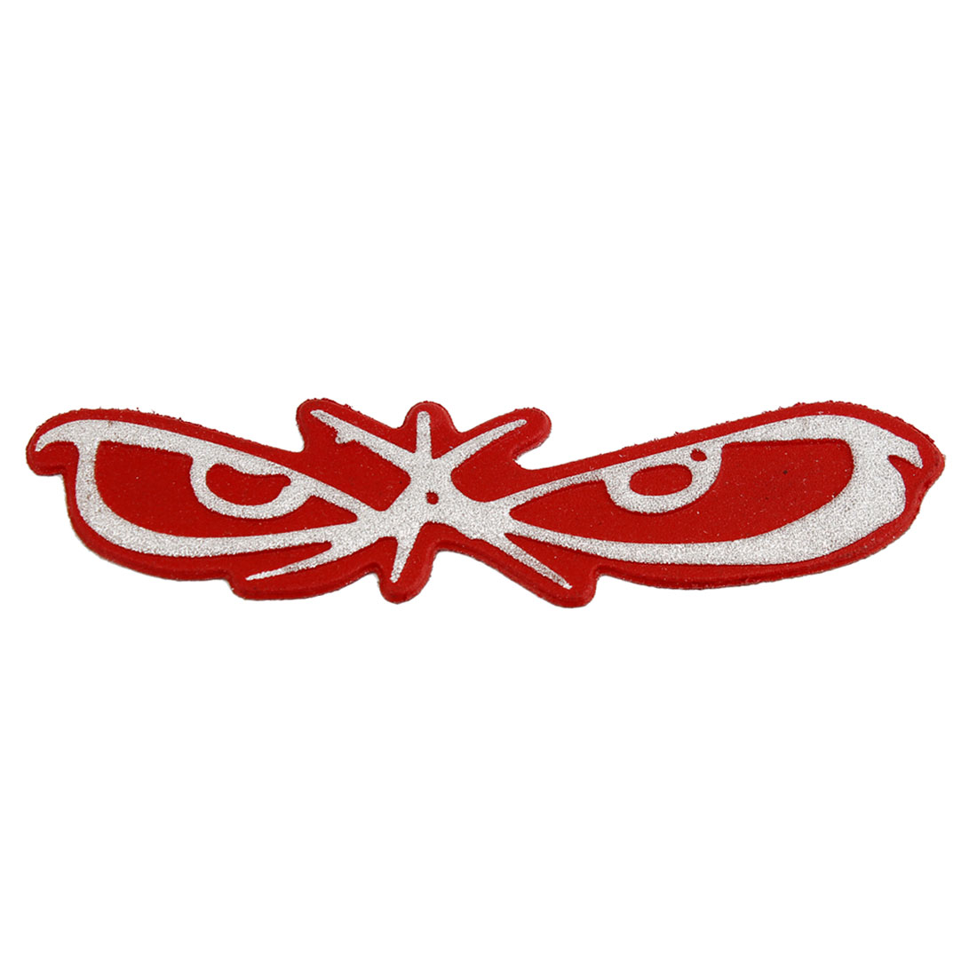 Butterfly Shape Powder Decor Red Plastic Car Decorative Badge Sticker