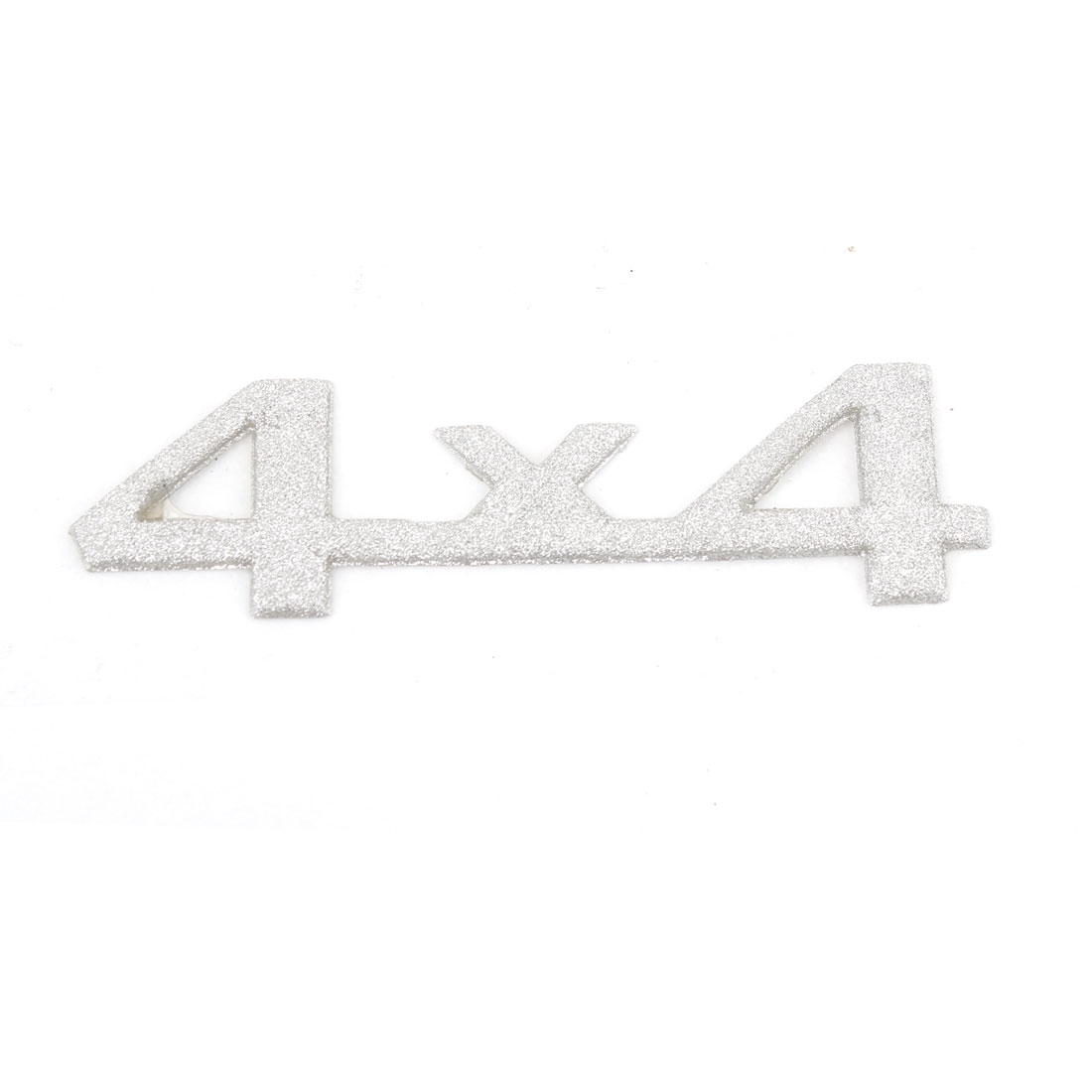 Silver Tone 4X4 Number Shaped Self Adhesive Car Badge Sticker