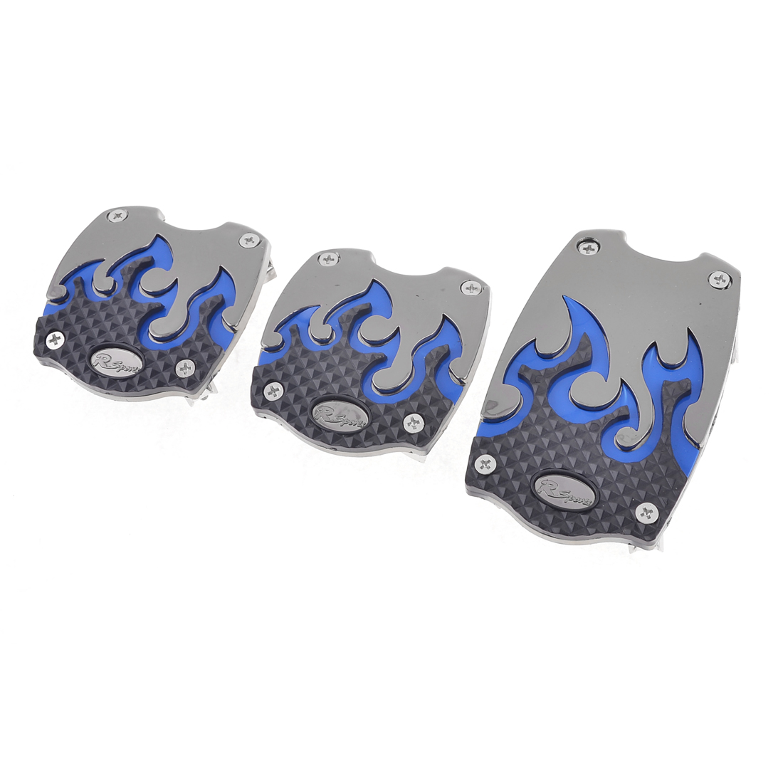 Truck Automatic Blue Nonslip Gas Brake Clutch Pedal Covers 3 Pcs