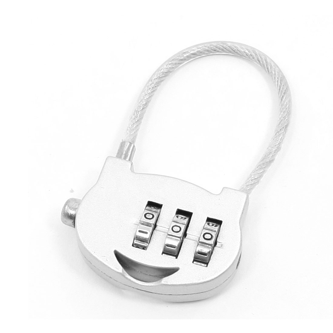 Gray Bag Shaped 3 Digits Combination Padlock Travel Luggage Code Lock
