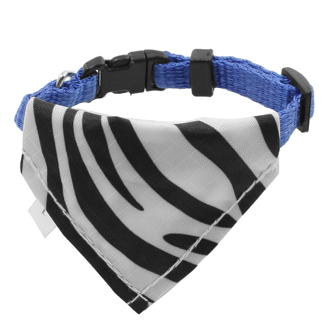 Black White Zebra Stripe Pattern Adjustable Pet Scarf Bandana Collar