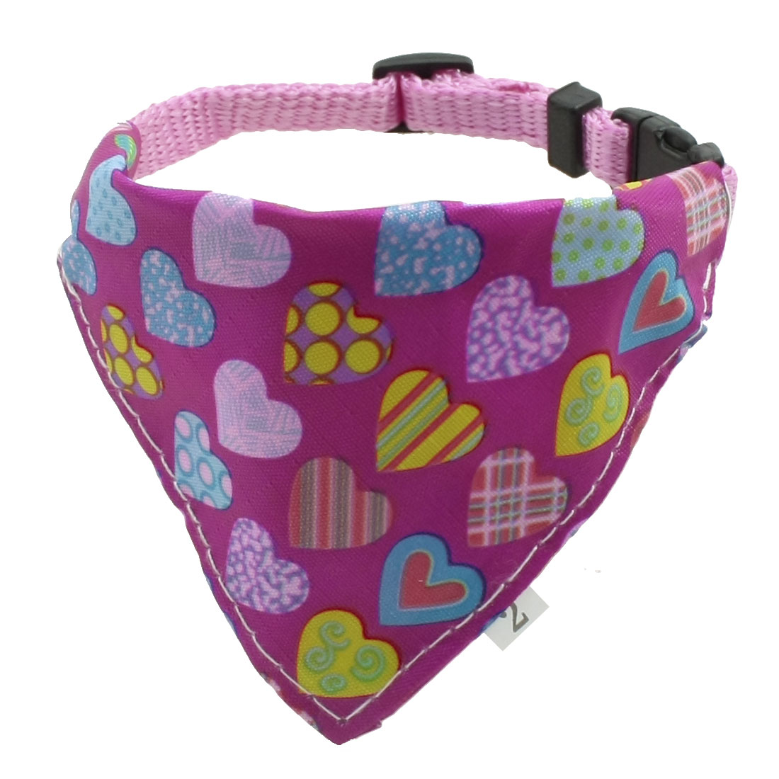 Colorful Heart Pattern Adjustable Belt Pet Dog Triangle Bandana Collar