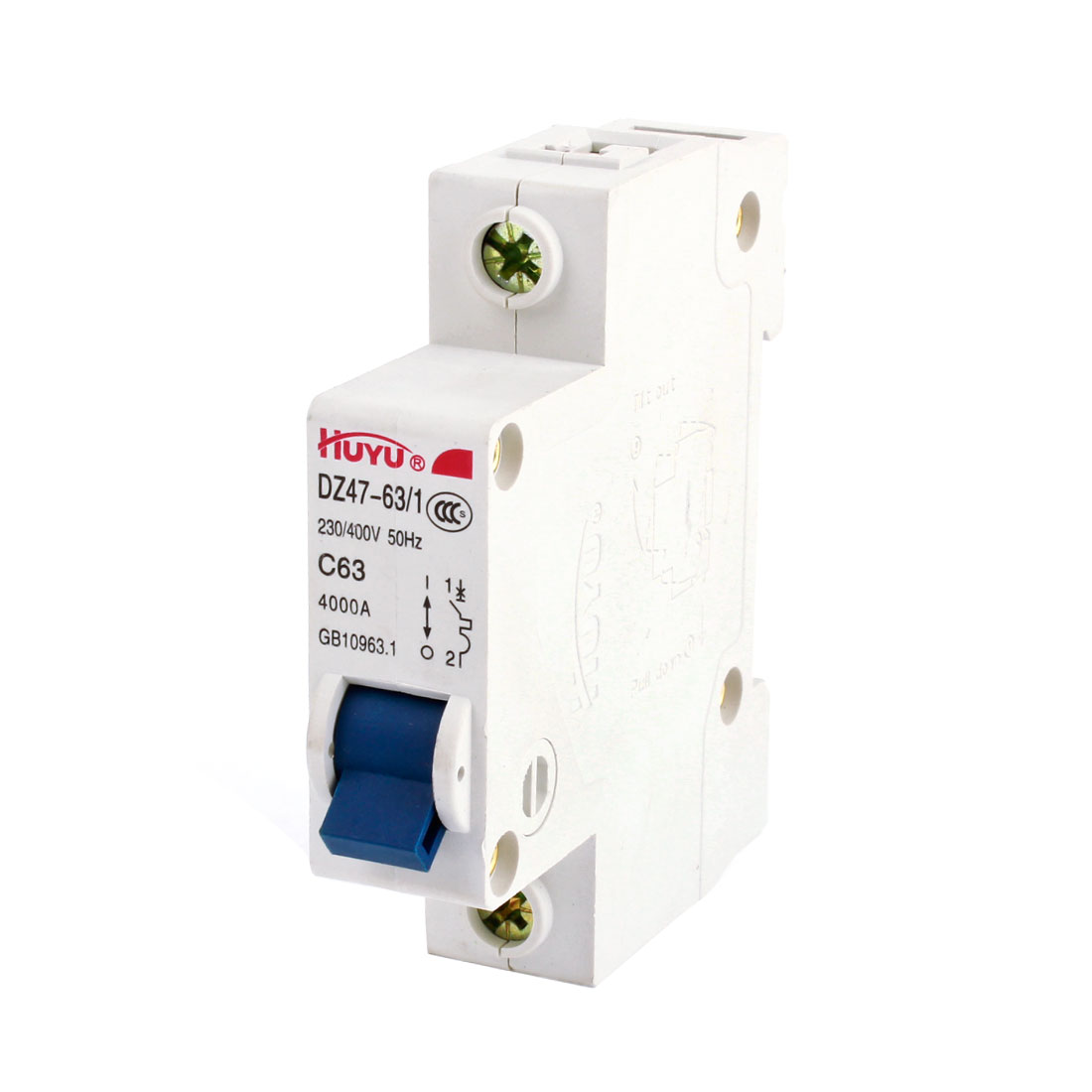 AC230-400V 63A 4000A 50Hz 1P ON/OFF Safety Switch Mini Circuit Breaker