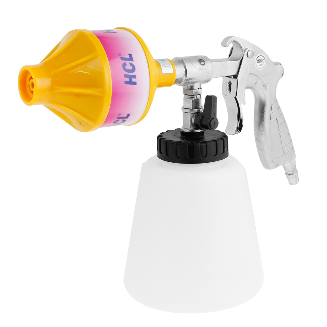 Auto Car Pulse Foam Cleaning Gun Cleaner w Plastic Bottle