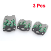 3 in 1 Green Texture Pattern Plastic Antislip Car Gas Clutch Brake Pedal Cover Set